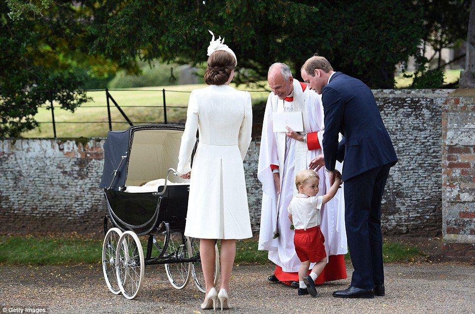 When the family of four reached the church on the Sandringham Estate they were greeted by ...