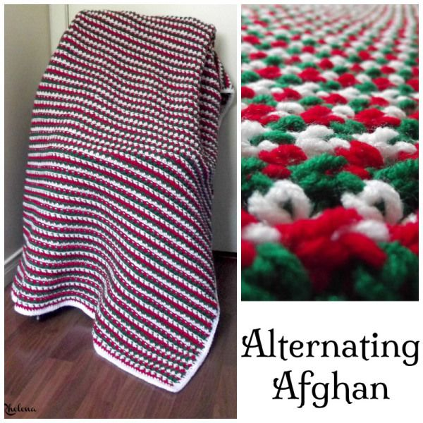 Alternating Afghan | Ganchillo