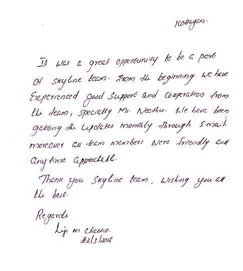 Completion Thank You Letter Client Testimonialsclient Letters