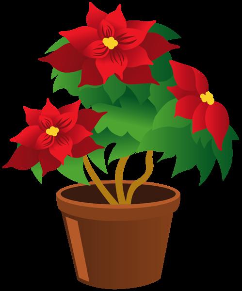 Poinsettia Pot Png Clipart Clip Art Flower Clipart Flower Pots