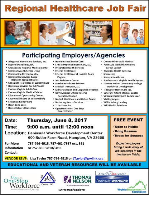 Military Civilian Hot Jobs Events And Helpful Information For Veterans Seeking Civilian Careers Regional Healthcare Jo Healthcare Jobs Job Fair Health Care