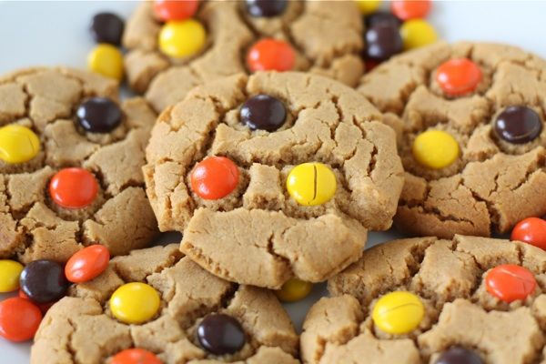 Reese's Pieces Flourless Peanut Butter Cookies