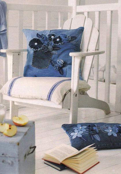 Модный тренд Джинсовые подушки. Обсуждение на LiveInternet - Российский Сервис Онлайн-Дневников