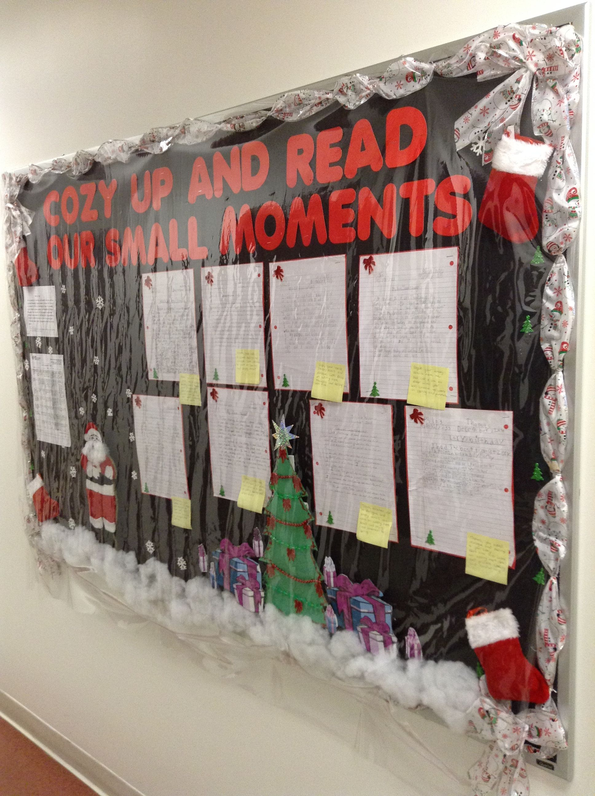 Christmas Bulletin Board Cozy Up And Read Our Small Moments