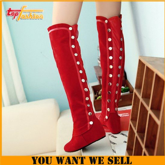 New Fasion over knee boots women designer leather boots winter boots with heels Plus Size34-43 WInter Knight Boots RH480