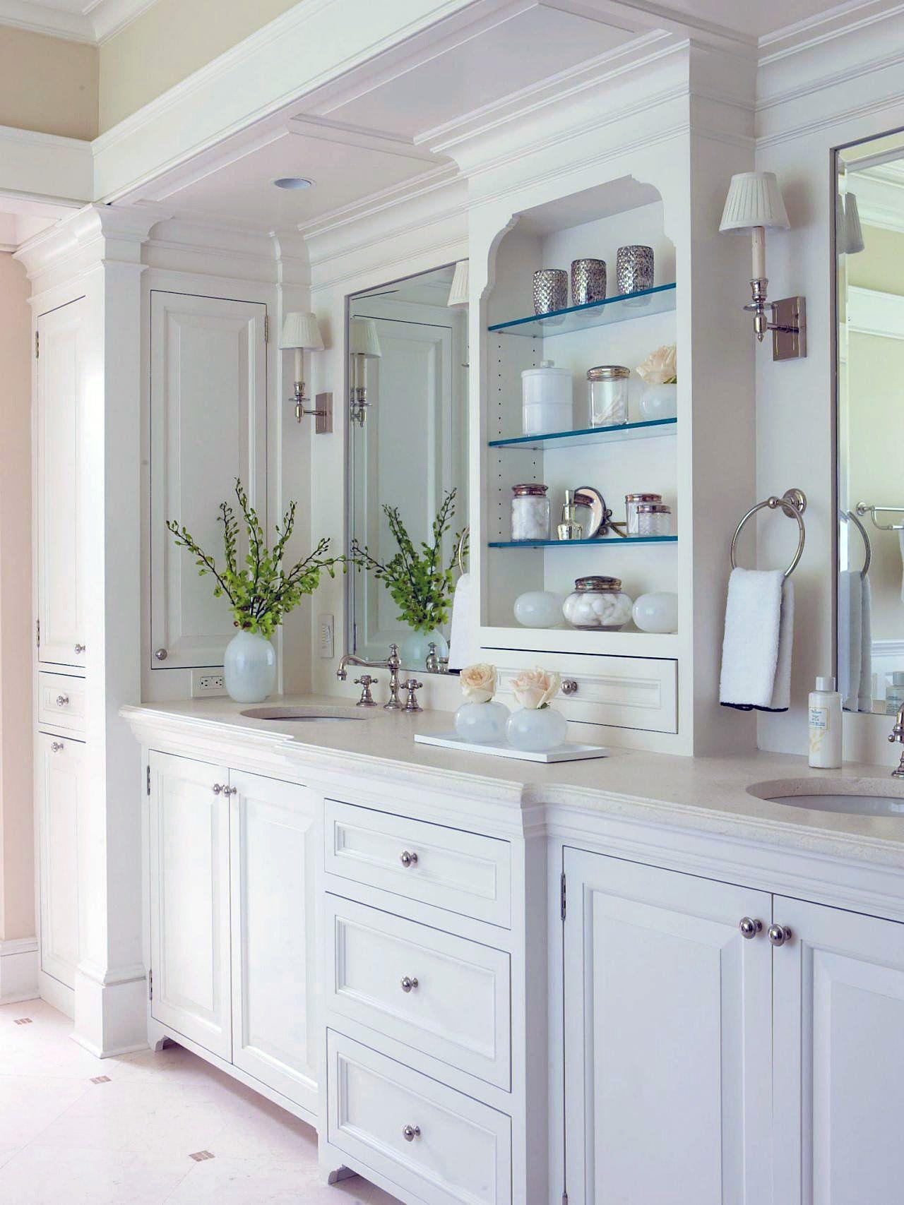 use white color to achieve a timeless bathroom design for the home rh pinterest com
