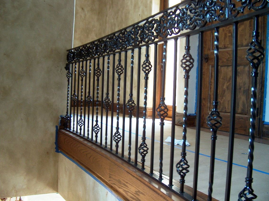 Wrought Iron Railing To Give Your Stairs Unique Look: Tile Flooring Design  Ideas With Wrought