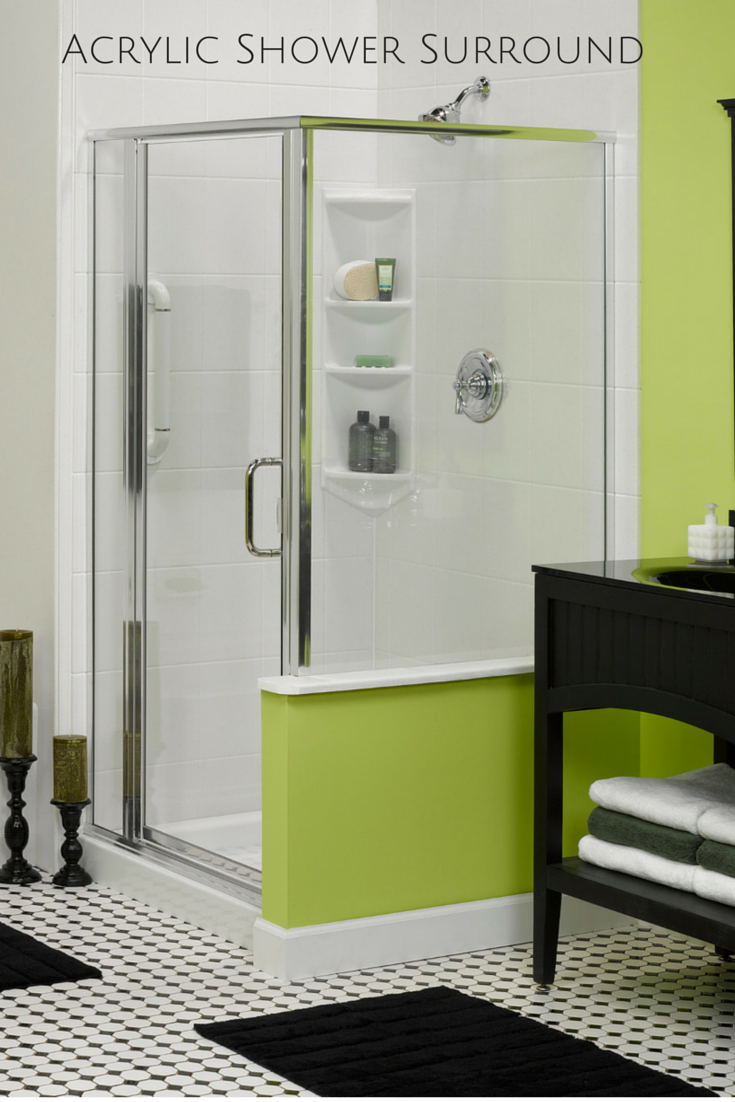 Acrylic shower surrounds are easy to clean and can even have tile or ...