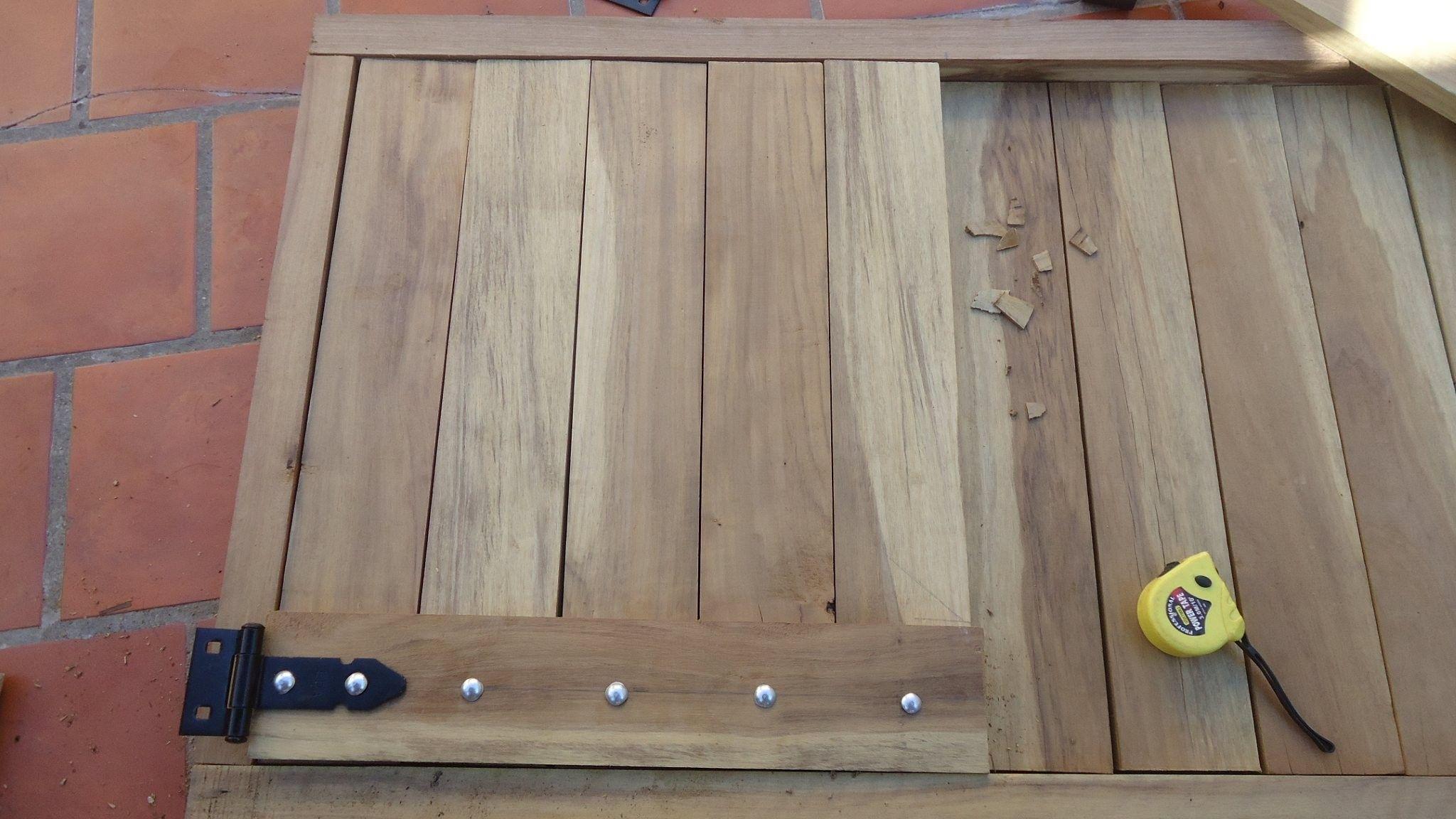 Resultado de imagen para planos puertas de parrillas de - Como hacer una puerta rustica ...