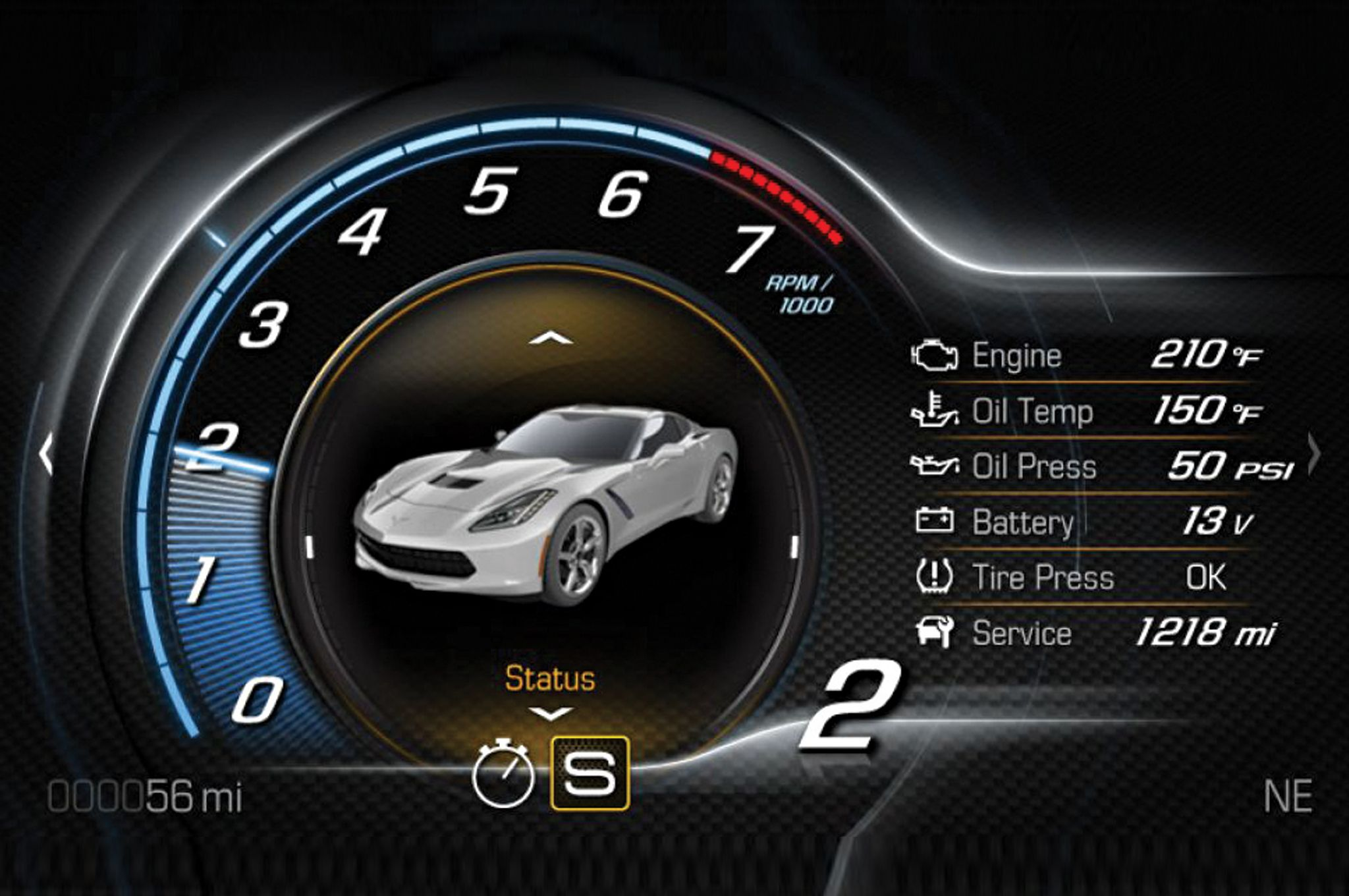 2014-Chevrolet-Corvette-Stingray-Z51-gauge-02.jpg (2048×1360 ...