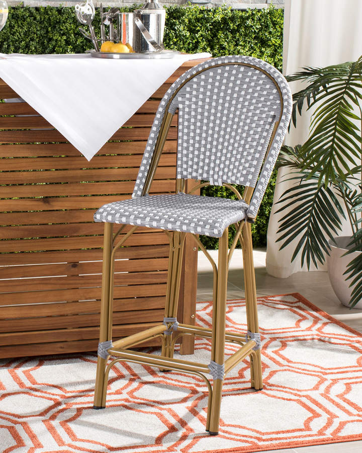 Cool Safavieh Gresley Outdoor French Bistro Counter Stool Ibusinesslaw Wood Chair Design Ideas Ibusinesslaworg