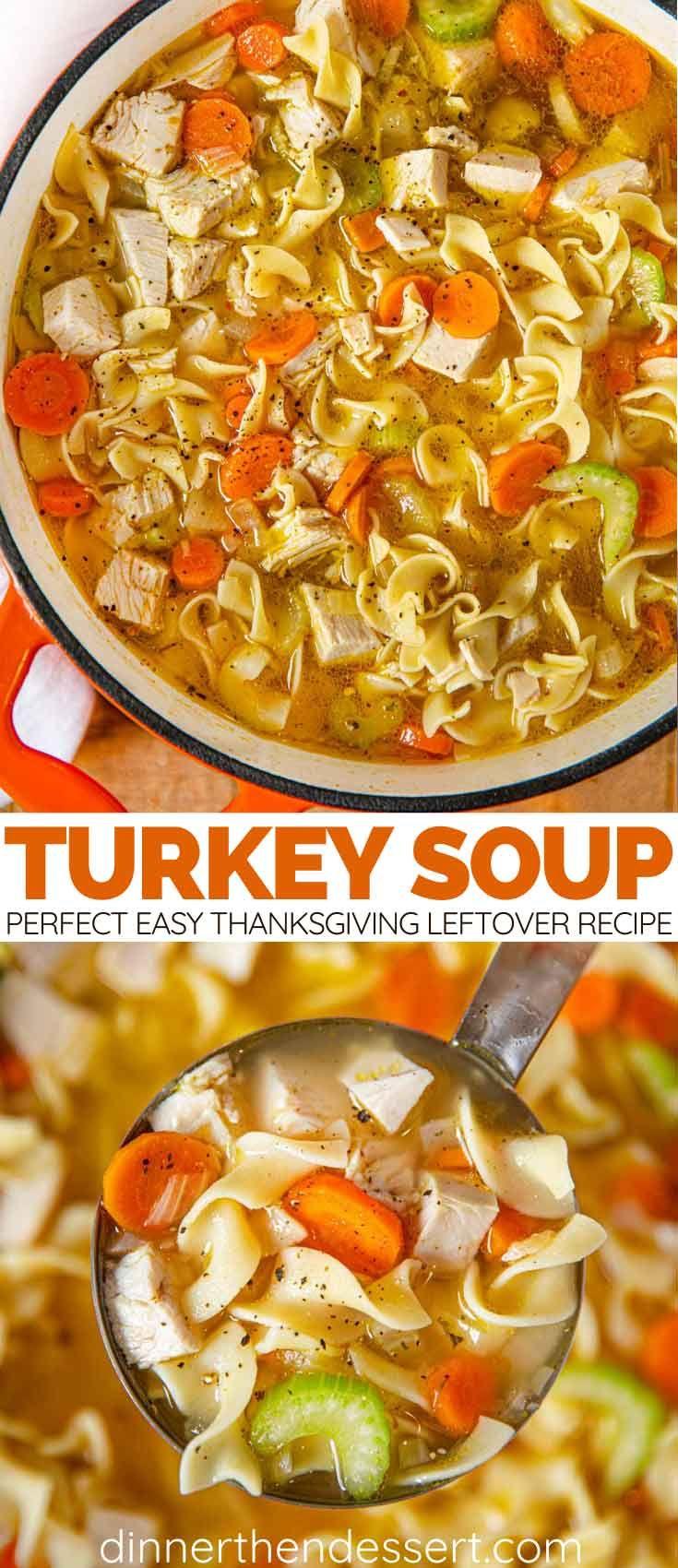 Turkey Soup Recipe - Dinner, then Dessert