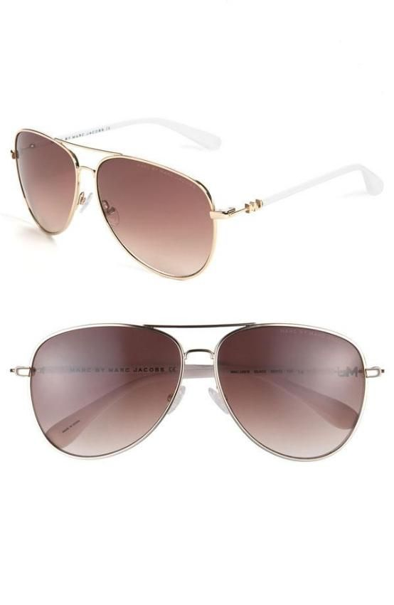 MARC BY MARC JACOBS Metal Aviator Sunglasses #MarcByMarcJacobs @MarcByMarcJacobs via @TaggTo