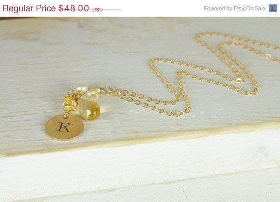 Monogrammed Necklace Autumn Trends Wedding by LillyputLaneDesignCo, $48.00