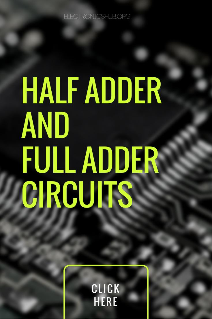 Half Adder And Full Circuits Using Nand Gates Electronics Circuit Diagram Gate Pinterest