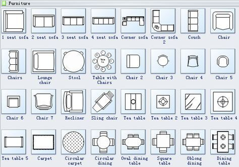 Floor Plan Symbols 2 Floor Plan Symbols Living Room Floor Plans Floor Plans
