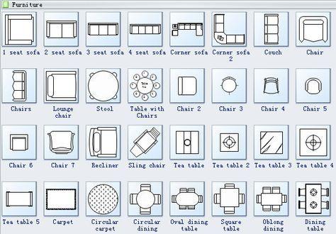 Floor Plan Symbols 2 Floor Plan Symbols Floor Plans Dining Room Floor