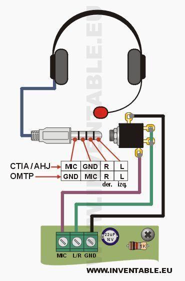 Conexión De Los Auriculares Con Un Solo Jack De 4 Contactos Electronics Projects Electricidad Y Electronica Tecnologia Electronica