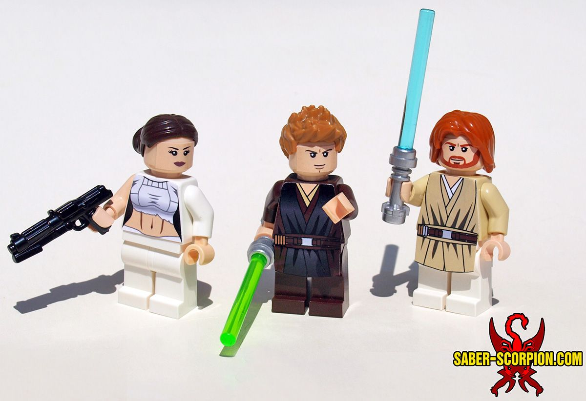 Custom lego star wars episode ii attack of the clones minifigures padmé