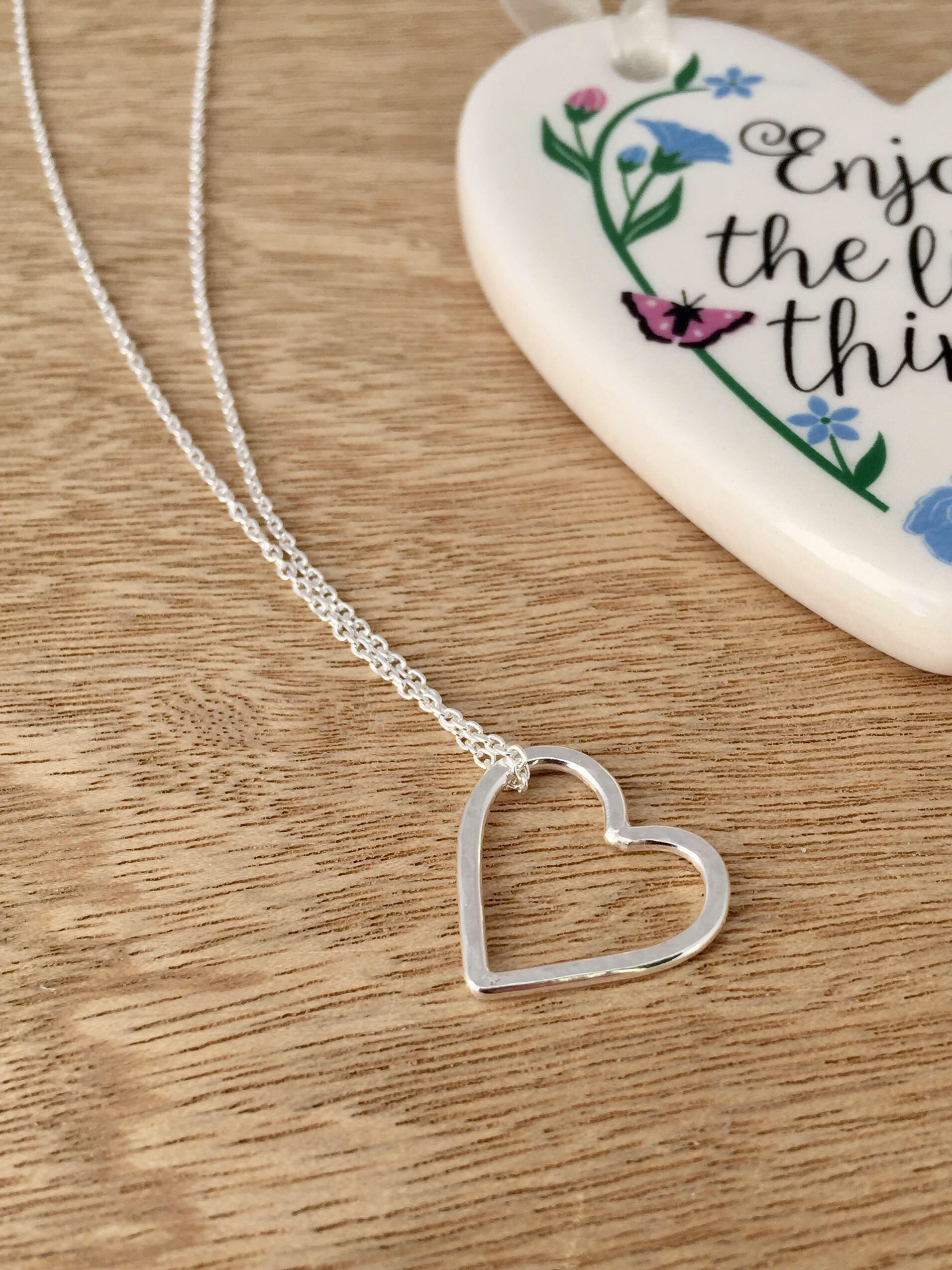 3592d465a8 Excited to share the latest addition to my #etsy shop: Handmade Sterling  Silver Heart Necklace #jewellery #necklace
