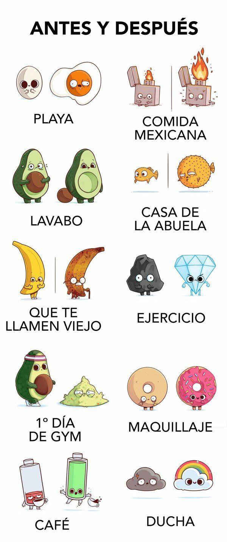 Antes Y Despues Memes Risas Memesespanol Instagram Fotos Chistes Top Comic Love Hoy Friends Amor Mexico Memesmex New Memes Funny Memes Best Memes