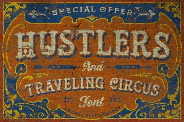 free-western-circus-font-hustlers.jpg (600×399)