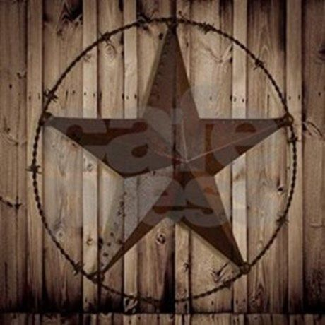 Barnwood Texas Star Large Wall Clock By Focusedonyou Cafepress Texas Star Primitive Bathrooms Country House Decor
