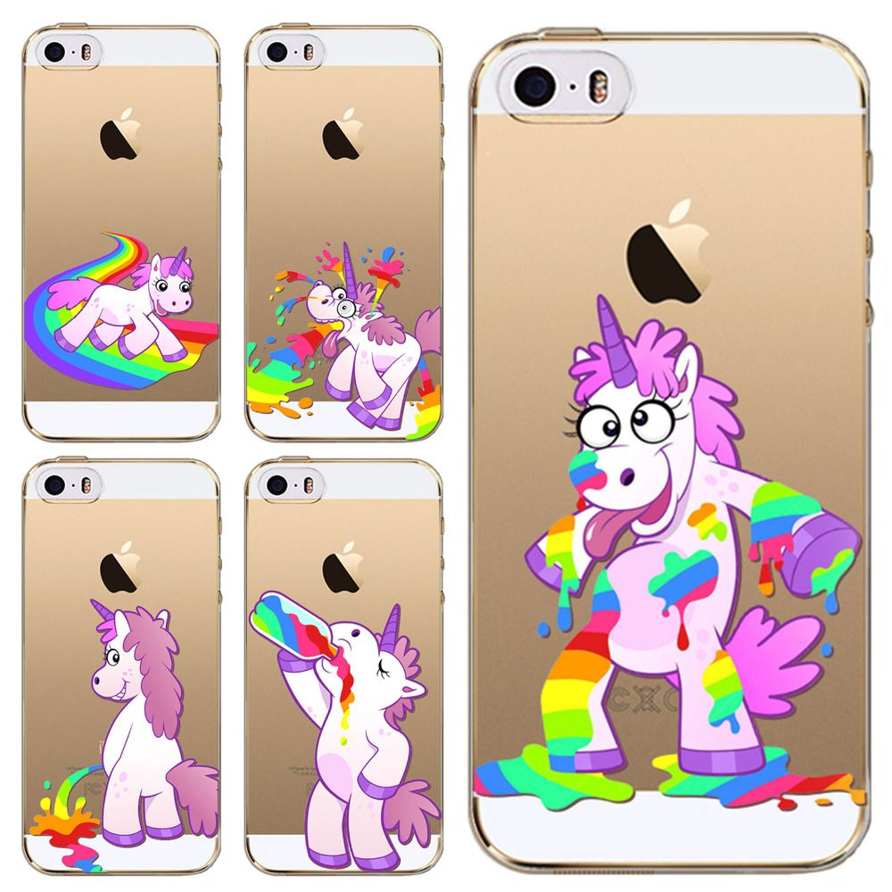 Silicone Case Rainbow Barfing Pooping