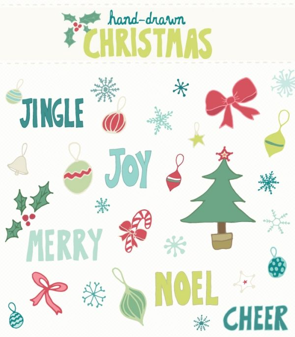 Hand Drawn Christmas - Graphics / Clip Art | Luvly