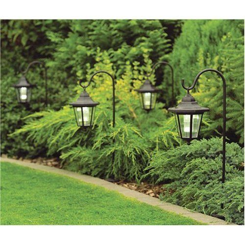 2 X Solar Garden Shepherd Coach Light Lanterns With Hooks