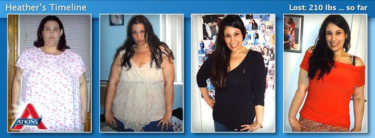 Heather Lost 210 Pounds On Atkins Most Rapid Weight Loss Typically Occurs In Phase Results Will Vary As Actual Varies By Individual