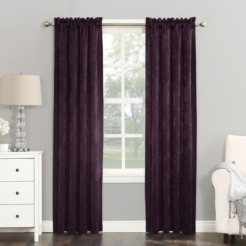 Sun Zero Cassara Rod Pocket Blackout Curtain Panel Curtains