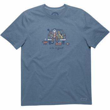 Life is good Men's Football Tailgate T-Shirt - $25.99