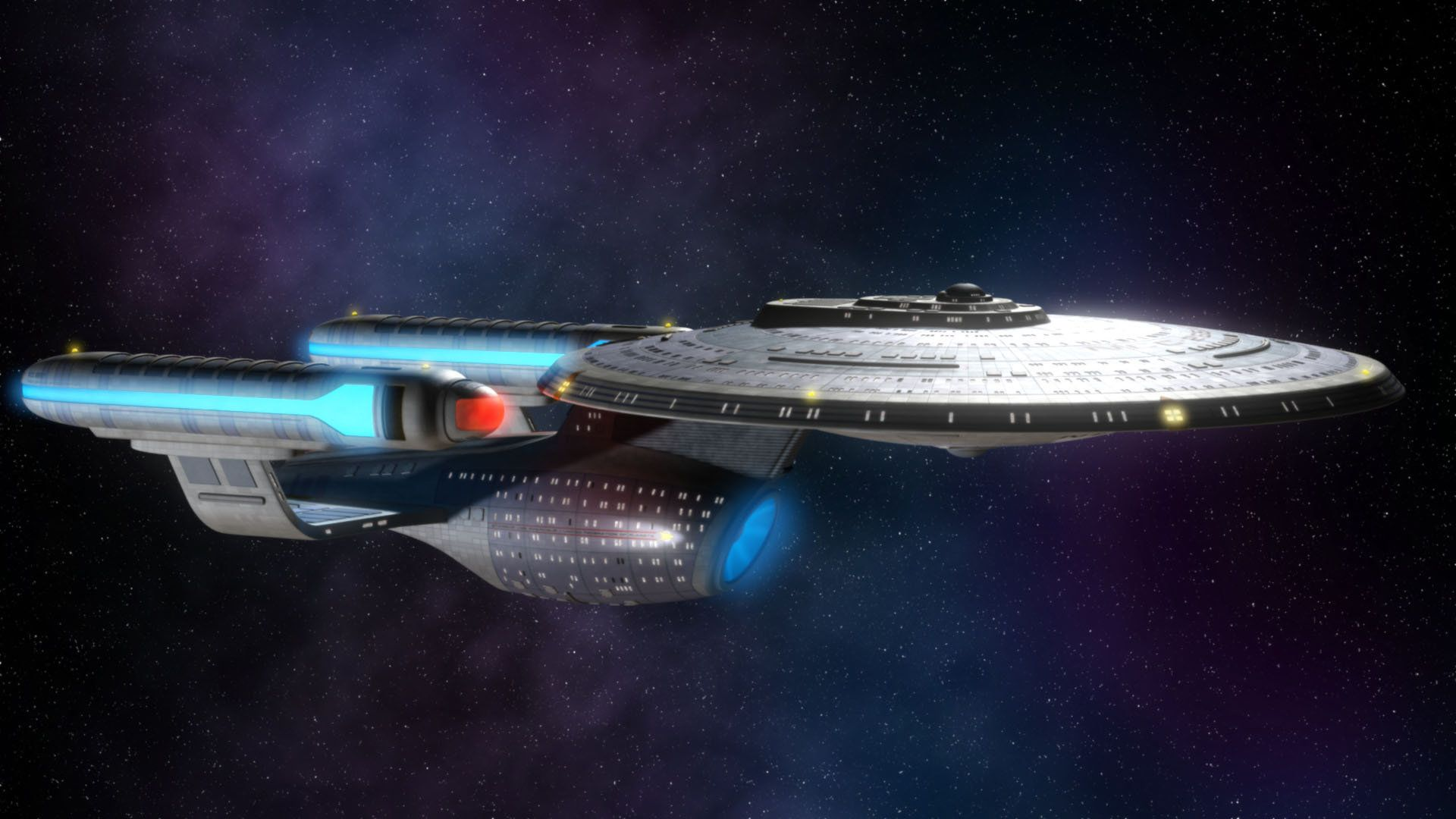 To Bodly Go An Ambassador Class Starship On Deviantart Star Trek Wallpaper Star Trek Art Star Trek Starships