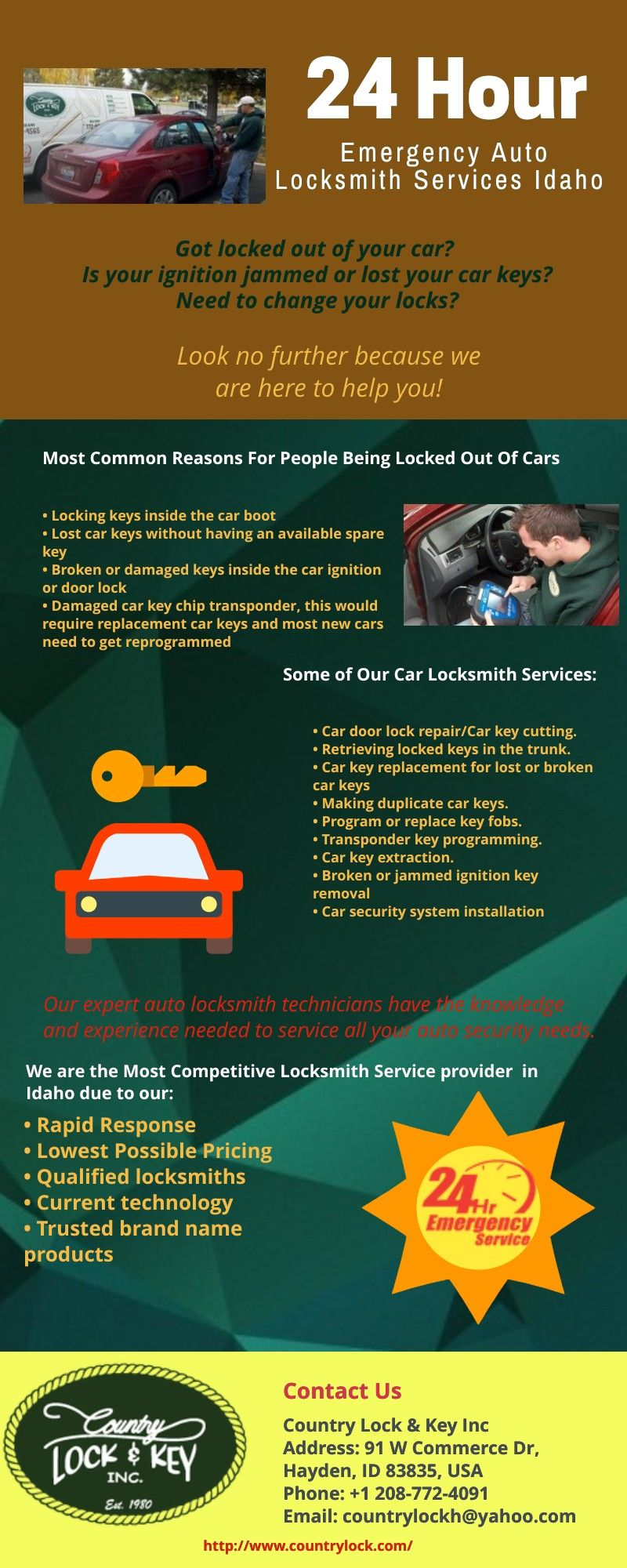 Locked out of your car? We offer a full range of