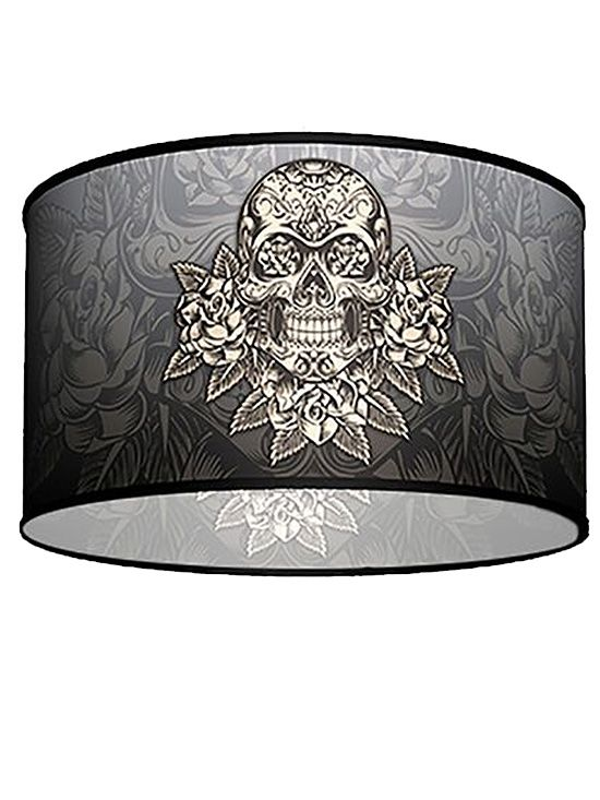Swag+Pendant+With+Gold+Skull+Shade+by+Lamp+in+A+Box