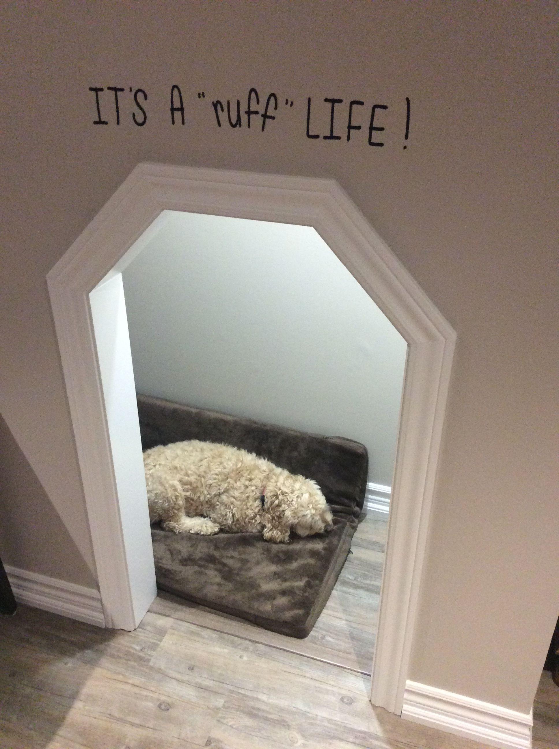 Dog House Under Stairs With Costco Kirkland Orthopedic Gel Dog