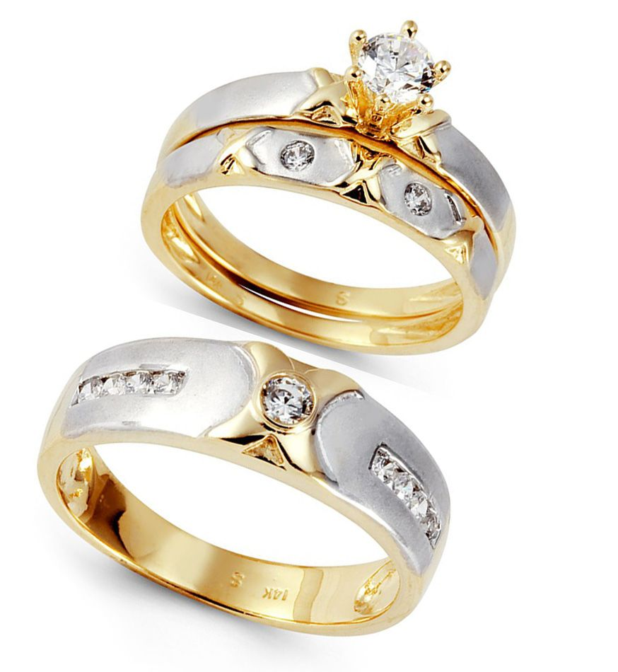 White gold wedding ring sets Beautiful Rings for Women Pinterest