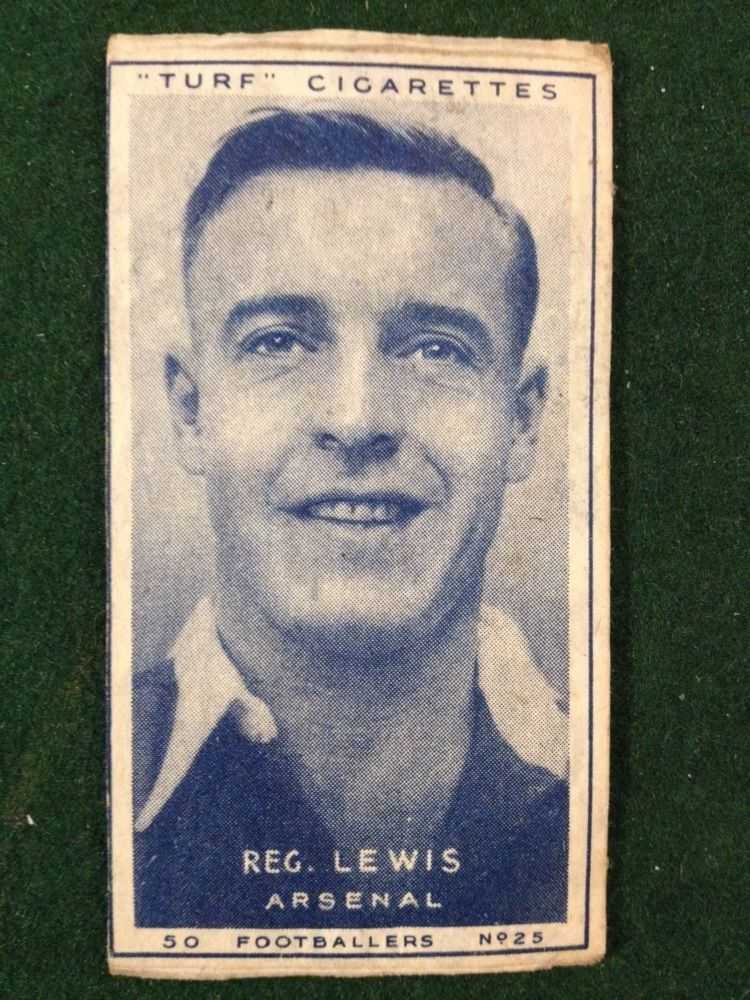 Carreras turf 1951 footballers no25 reg lewis