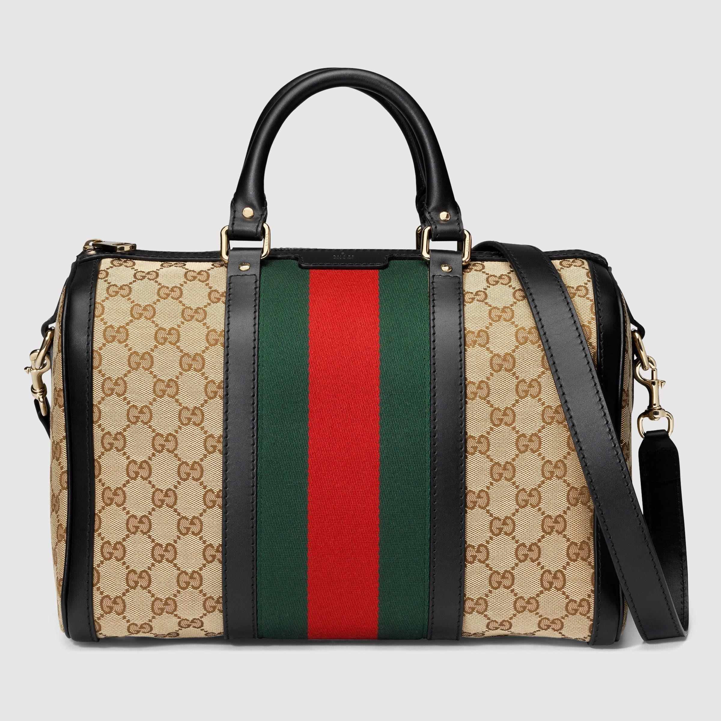 19d53e1baa Gucci Women - Vintage Web Original GG boston bag - 247205KQW5G9775  #guccibostonbag