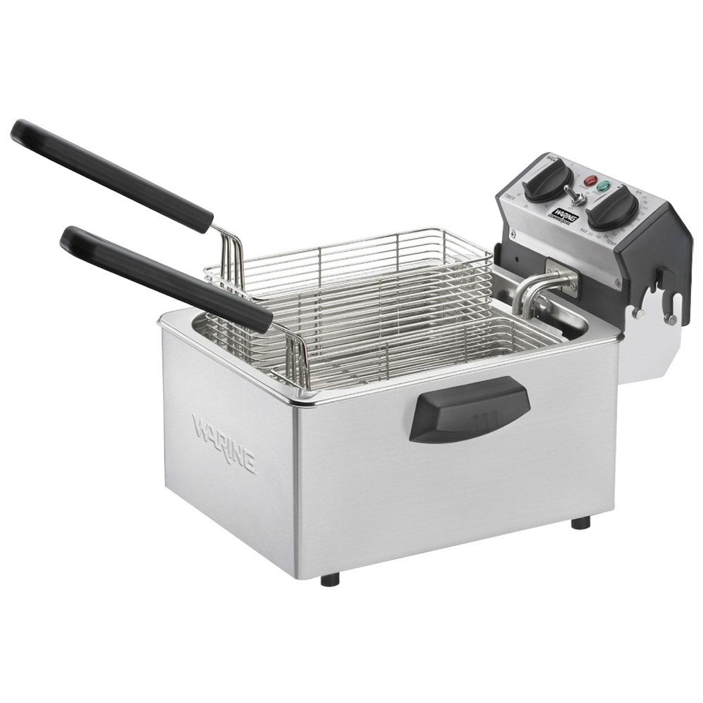 Waring Wdf75rc 8 5 Lb Commercial Countertop Deep Fryer 120v
