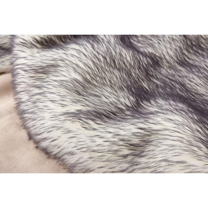 Rug Factory Plus Faux Fox White Black Area Bed Cover