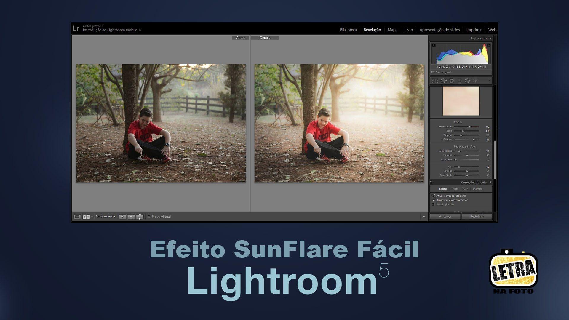 SunFlare no Lightroom