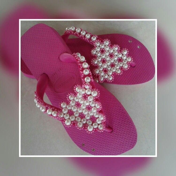 Sandálias havaianas decoradas | Havaianas em diversos tamanh