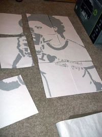 Large Scale Stencils From Photographs Stencil Street Art