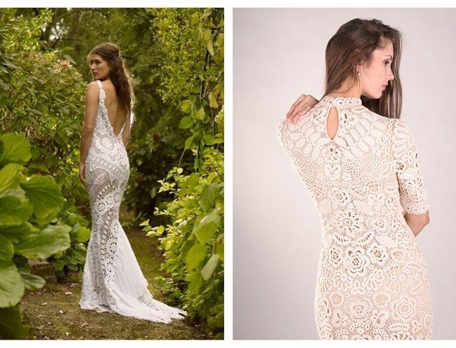 Crochet Wedding Dress Inspiration 4 Crocheted Knitted Dresses
