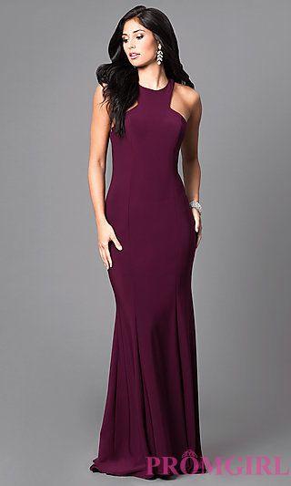 b8504daab93 Wine Purple Floor Length Formal Dress at PromGirl.com Long Formal Gowns,  Plus Size