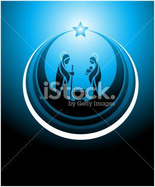 nativity scene icon Royalty Free Stock Vector Art Illustration
