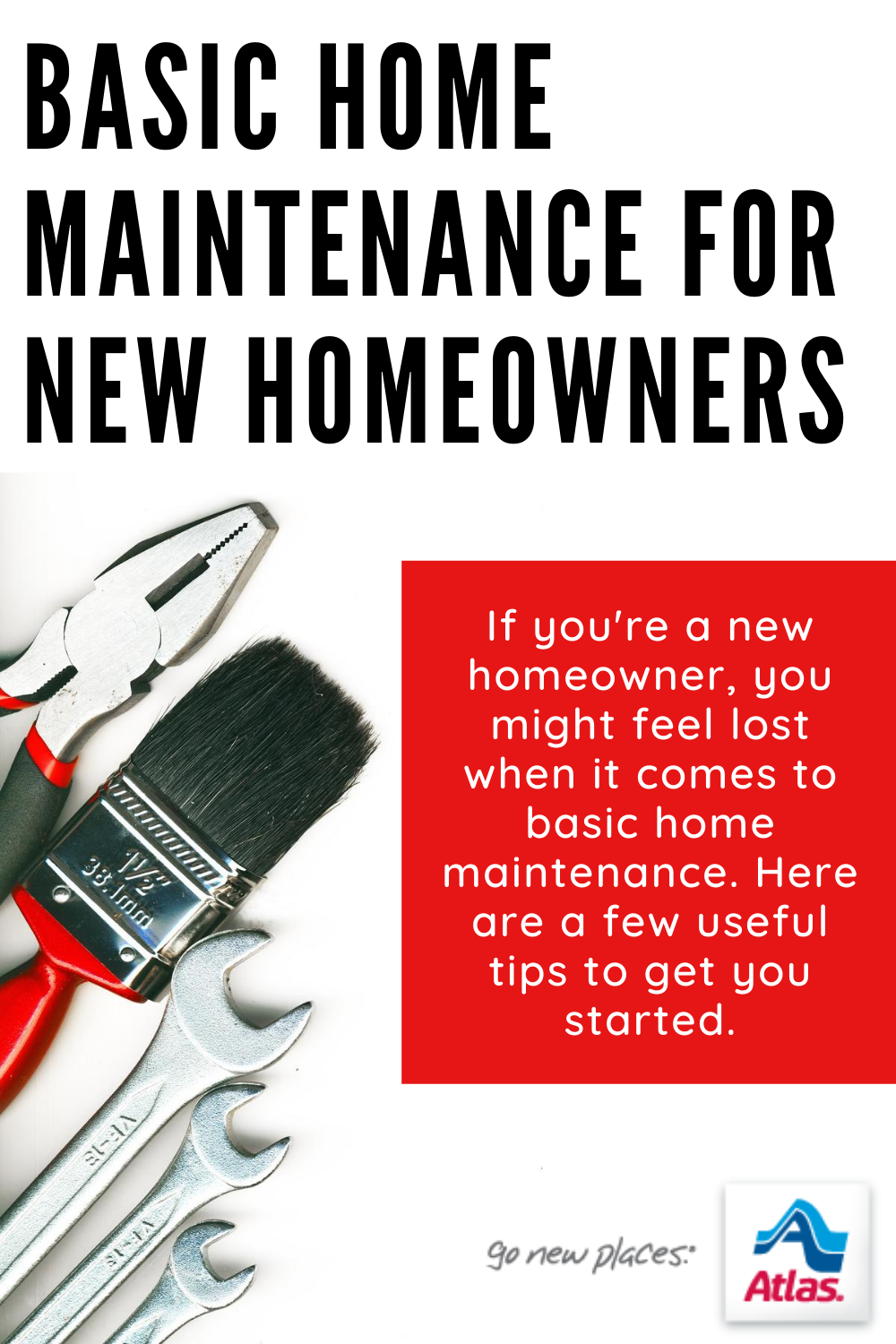 If you're a new homeowner, you might feel lost when it comes to basic home maintenance. Here are a few useful tips to get you started.