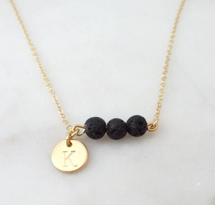 Perfect Essential Oil Necklace Personalized Lava Rock